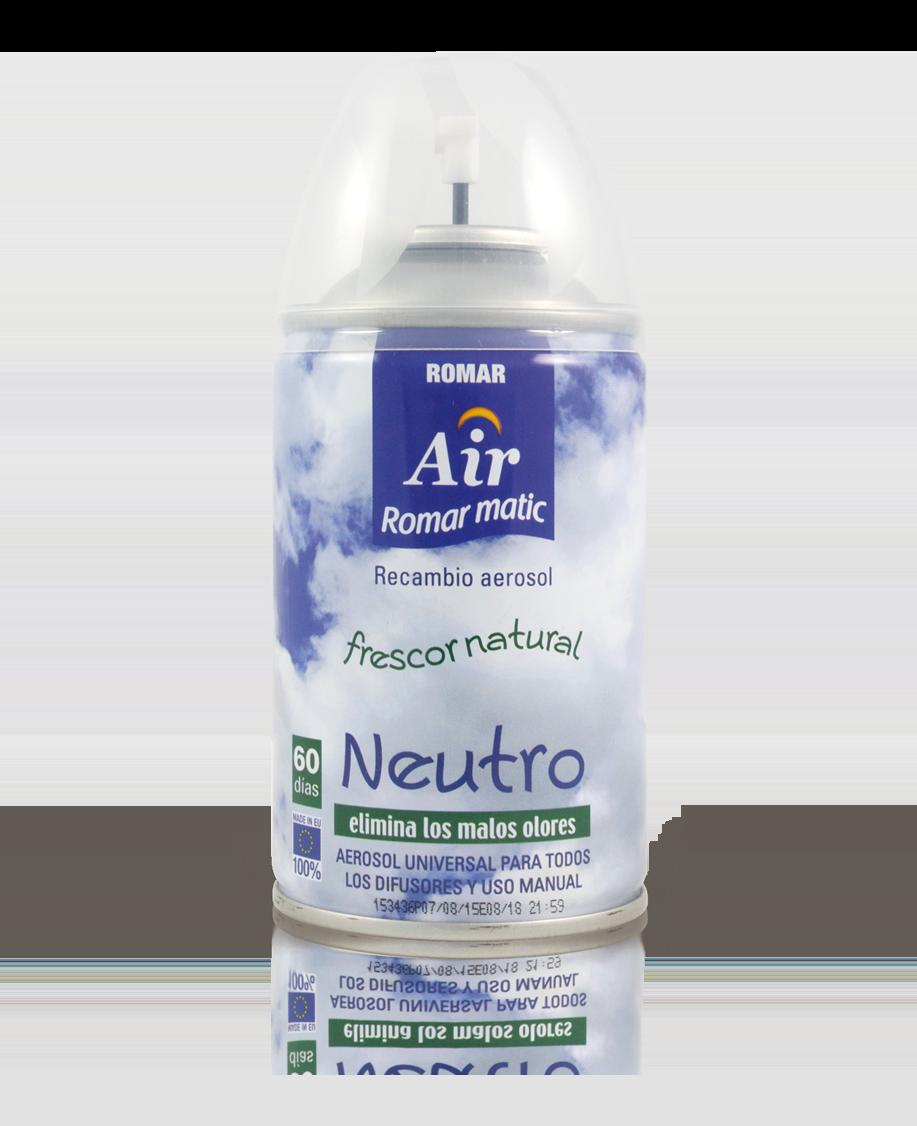 Recambio aerosol autom tico neutro quimi romar for Spray elimina olores ropa