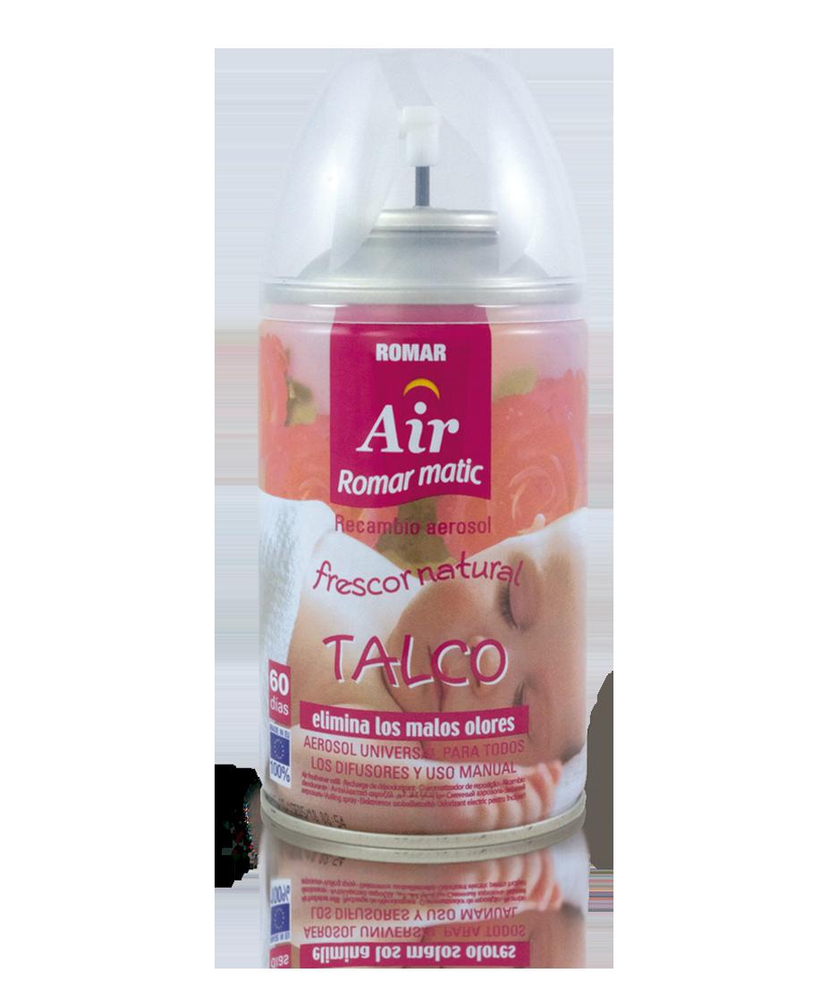 Talc automatic air freshener spray refill quimi romar
