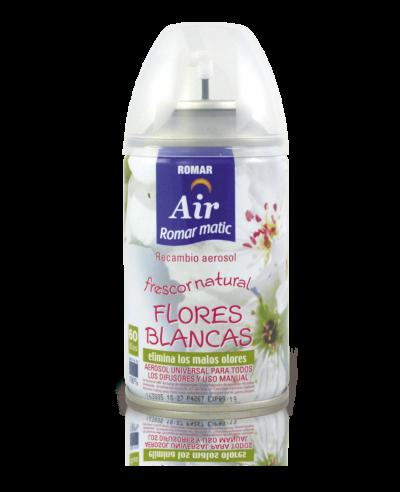 Recambio aerosol automático flores blancas