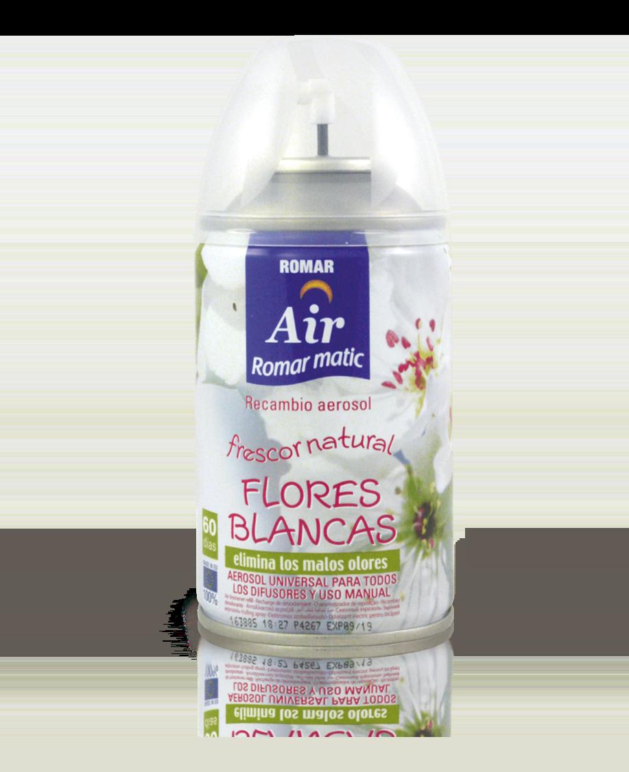 Recambio aerosol autom tico flores blancas quimi romar for Spray elimina olores ropa