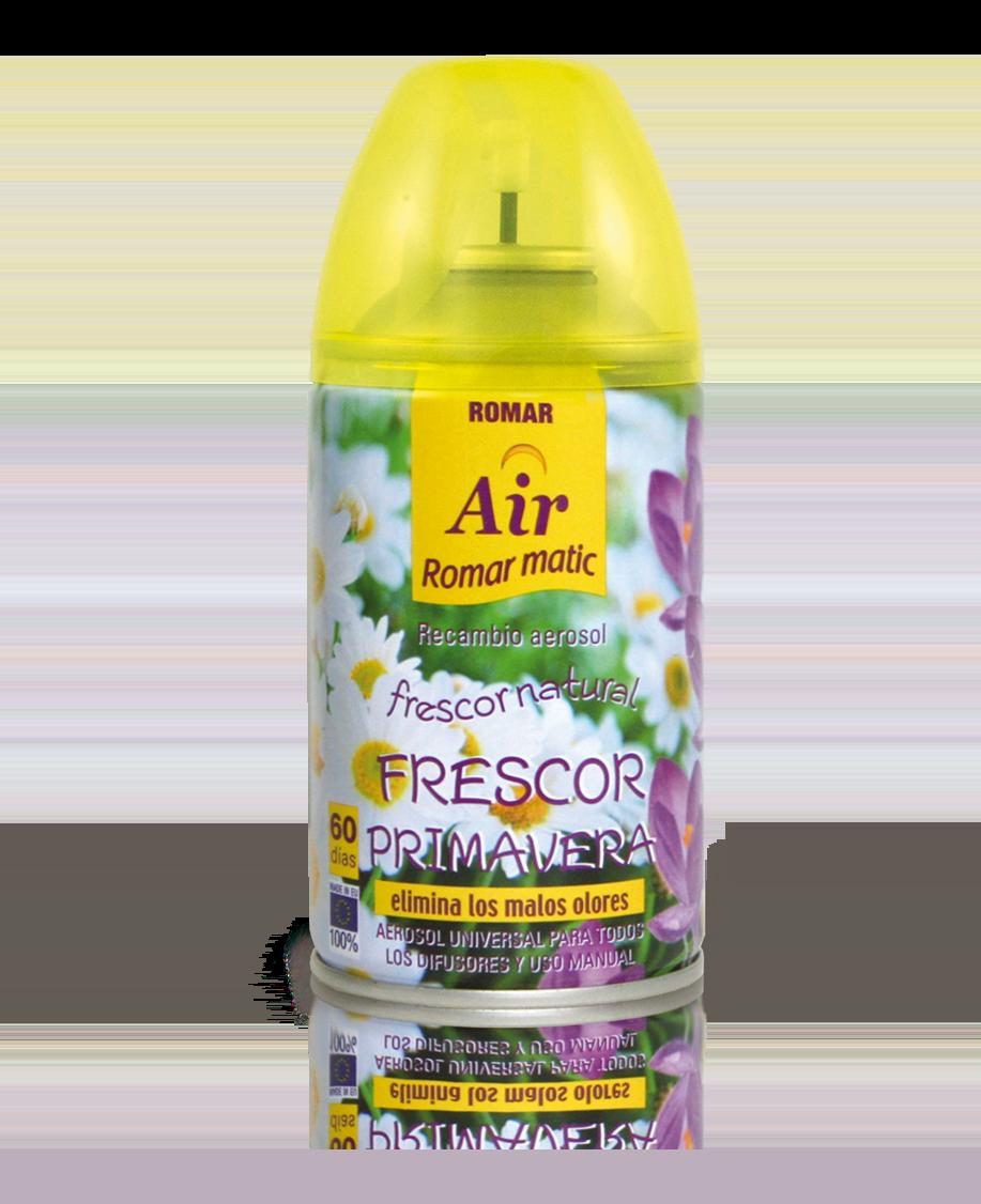 Recambio aerosol autom tico frescor primavera quimi romar for Spray elimina olores ropa