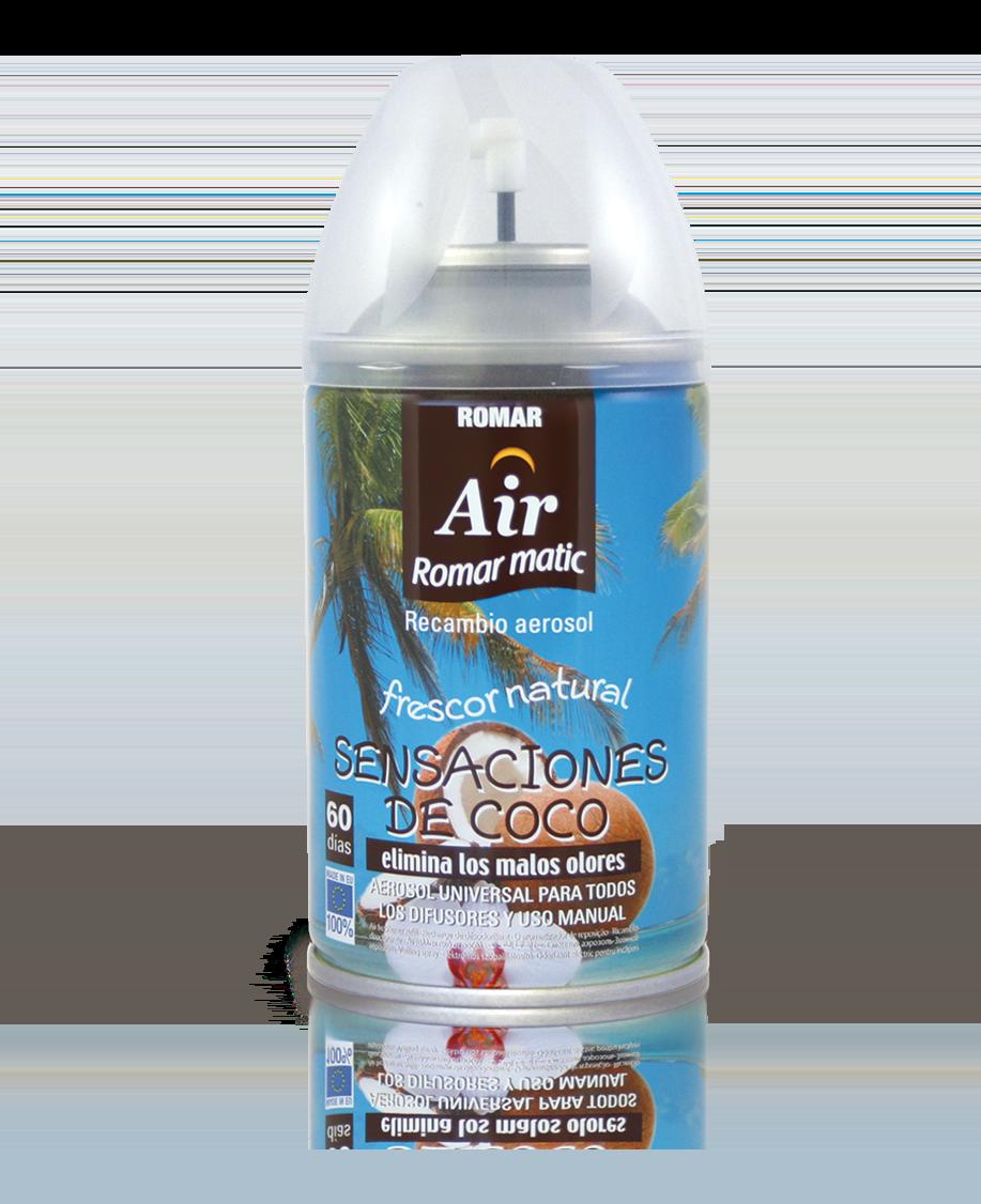 Recambio aerosol autom tico sensaciones coco quimi romar for Spray elimina olores ropa