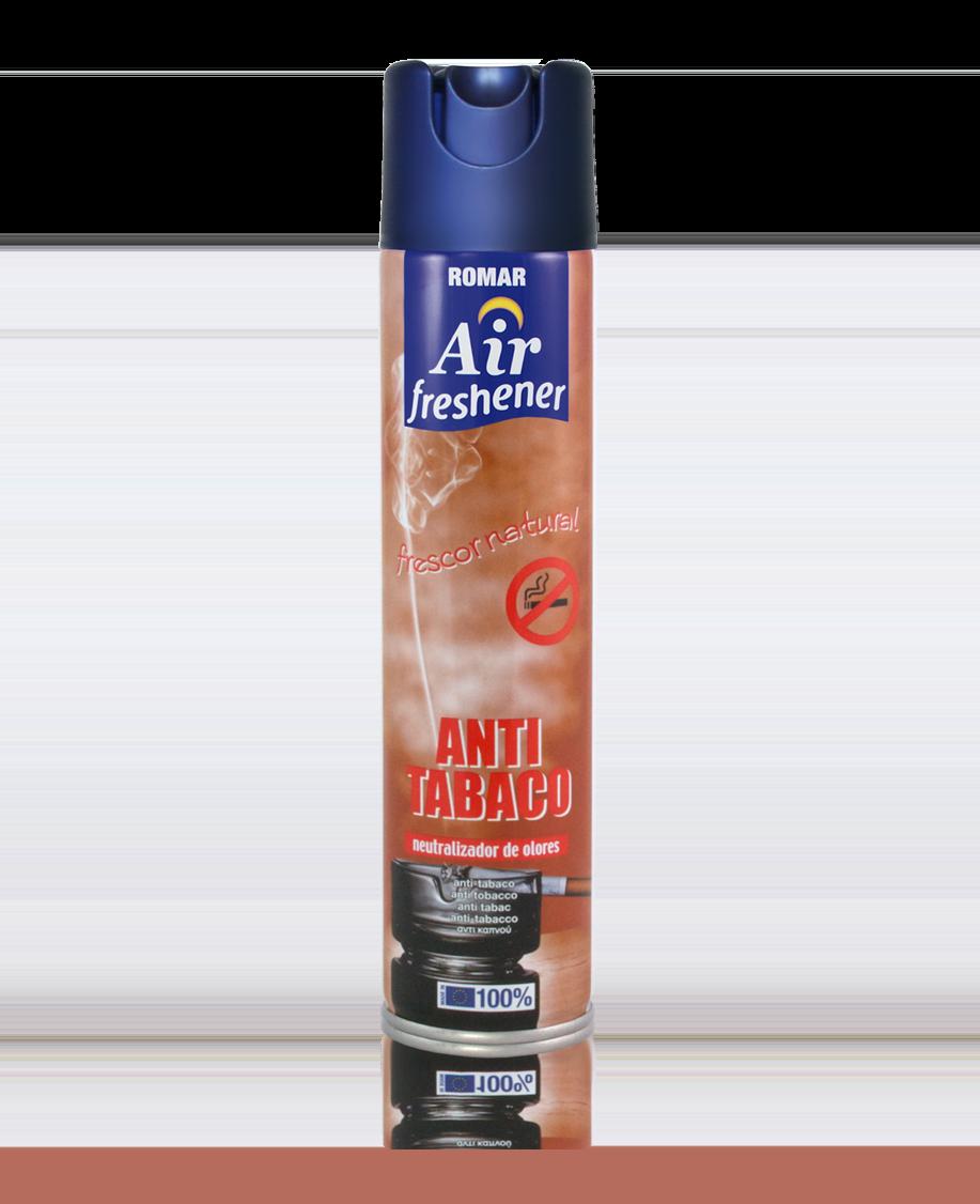Ambientador spray antitabaco