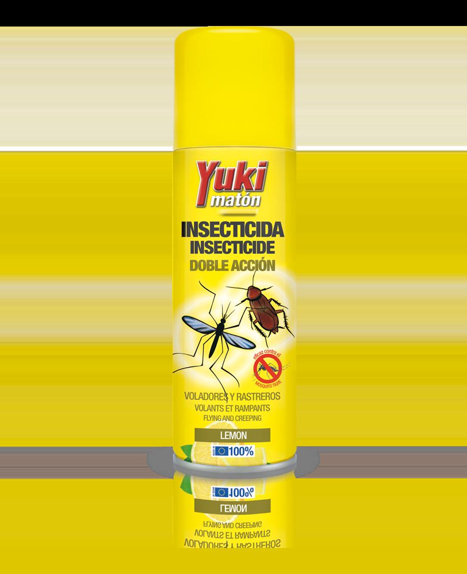 Insecticida spray doble acción