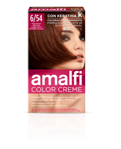 Tinte 6/54 rojo oscuro color creme