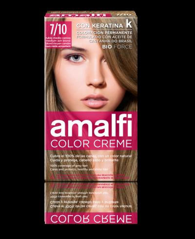 Tinte 7/10 rubio medio ceniza color creme